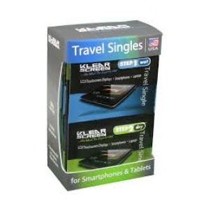 Klear Screen Travel Singles Kit ( Step 1 Wet / Step 2 Dry )
