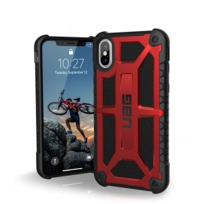 Urban Armor Gear Monarch Case For iPhone Xs / X - Crimson And Black