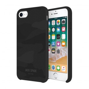 JACK SPADE Comold Inlay Case for iPhone 8, iPhone 7 - Shadow Camo Black Leather