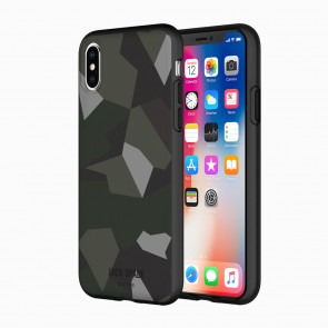 JACK SPADE Comold Case for iPhone X - Translucent Camo Multi/Smoked Gray