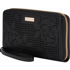 kate spade new york Zip Wristlet (Fits Most Mobile Phones) - Perforated Rose Black