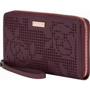 kate spade new york Zip Wristlet (Fits Most Mobile Phones) - Perforated Rose Mahogany