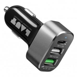 Laut POWERDASH Dual USB + USB C Fast Charge Black