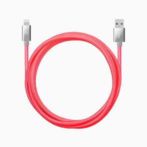 Candywirez 10FT Marbled Woven Lightning Cable - Neon Pink