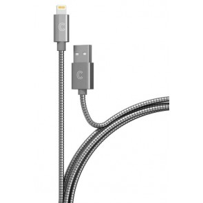 CandyWirez 3ft Stainless Steel Lightning Cables - Silver