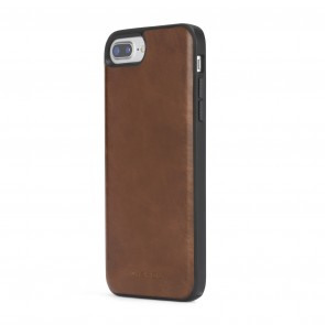 Diesel Leather Co-Mold Case for iPhone 8 Plus, iPhone 7 Plus, iPhone 6/6s Plus - Brown Leather