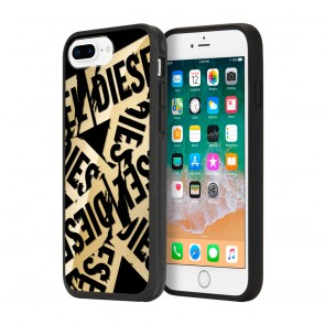 Diesel Printed Co-Mold Case for iPhone 8 Plus, iPhone 7 Plus, iPhone 6 Plus, and iPhone 6s Plus - Multi Tape Gold/Black