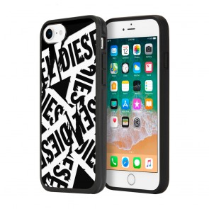Diesel Printed Co-Mold Case for iPhone 8, iPhone 7, iPhone 6, and iPhone 6s - Multi Tape Black/White