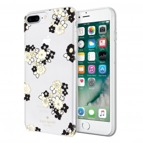 kate spade new york Protective Hardshell Case (1-PC Comold) for iPhone 7 Plus & iPhone 6 Plus/6s Plus - Floral Burst Clear/Cream/Black/Gold Foil/Gems