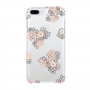 kate spade new york Protective Hardshell Case (1-PC Comold) for iPhone 7 Plus & iPhone 6 Plus/6s Plus - Floral Burst Clear/White/Pink Sand/Rose Gold Foil/Gems