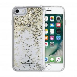 kate spade new york Liquid Glitter Case for iPhone 7 - Spades Gold Glitter/Silver Spades/Gold Spades