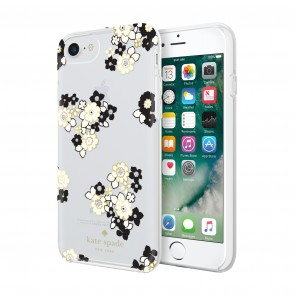 kate spade new york Protective Hardshell Case (1-PC Comold) for iPhone 7 & iPhone 6/6s - Floral Burst Clear/Cream/Black/Gold Foil/Gems