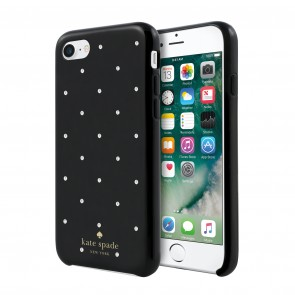 kate spade new york Protective Hardshell Case (1-PC Comold) for iPhone 7 - Larabee Dot Black/Crystal Stones