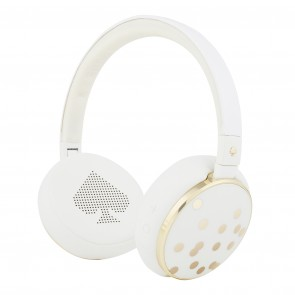 kate spade new york Wireless Headphones – Cream/Gold Glitter