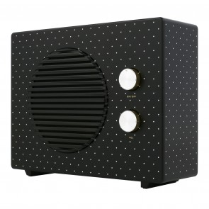 kate spade new york Portable Wireless Home Speaker – Black/Cream Dots
