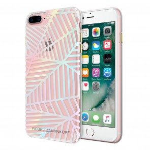 Rebecca Minkoff Double Up Case for iPhone 7 Plus - Geometric Wall Clear/Holographic Foil