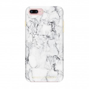 Rebecca Minkoff Double Up Protection Case for iPhone 7 Plus - Marble Print Silver Foil