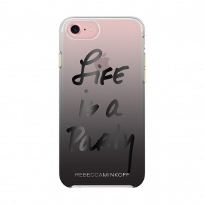 Rebecca Minkoff Double Up Protection Case for iPhone 7 - Life is a Party Black/Black Foil