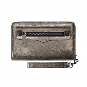 Rebecca Minkoff Regan Universal Wristlet (Fits Most Mobile Phones) - Cracked Leather Anthracite