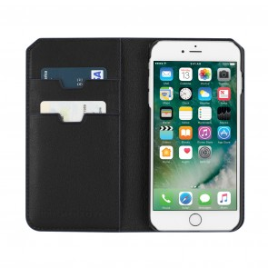 Uri Minkoff Saffiano Leather Folio Case for iPhone 8 Plus & iPhone 7 Plus - Black