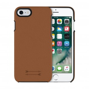 Uri Minkoff Saffiano Leather Wrap Case for iPhone 8, iPhone 7 - Luggage Brown