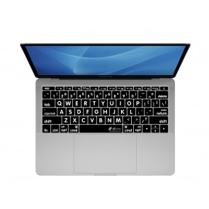 """KB Covers Large Type Keyboard Cover for MacBook 12"""" Retina & MacBook Pro 13"""" (Late 2016+) No Touch Bar"""