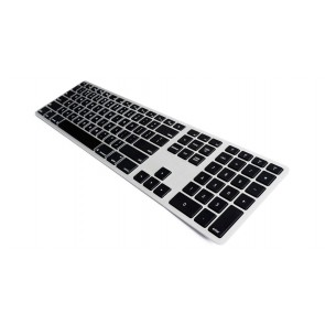 Matias Backlit Wireless Aluminum Keyboard – Silver/Black