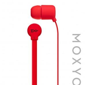 Moxyo MXY Mission Earbud, Red Flat Cbl w Mic Red