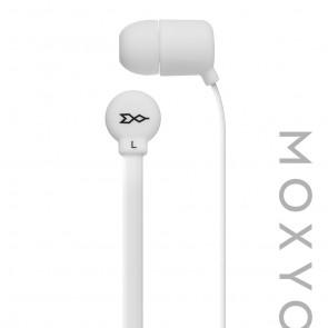 Moxyo MXY Mission Earbud, White Flat Cbl w Mic White