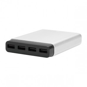 Just Mobile AluCharge slim 4-port USB Charger