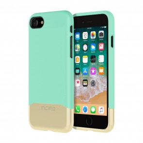 Incipio Edge Chrome for iPhone 8 - Teal/Gold