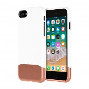 Incipio Edge Chrome for iPhone 8 - Glossy White/Rose Gold