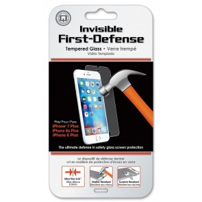 Qmadix Invisible First-Defense Tempered Glass Screen Protector iPhone 8 Plus, 7 Plus, 6s/6 Plus