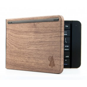 Reveal Bluetooth Wallet Keyboard - Wood Grain