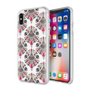 Rebecca Minkoff Be More Transparent Case for iPhone X - Fan Print Multi