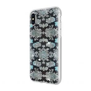 Rebecca Minkoff Be More Transparent Case for iPhone X - Glitter Snake Skin Multi Glitter