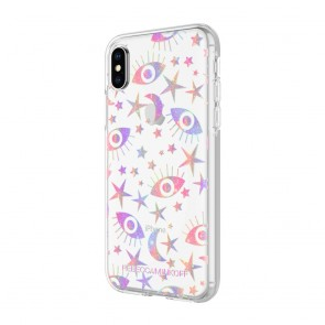 Rebecca Minkoff Be More Transparent Case for iPhone X - Glitter Galaxy Clear/Holographic Foil