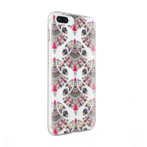 Rebecca Minkoff Be More Transparent Case for iPhone 8 Plus & iPhone 7 Plus - Fan Print Multi