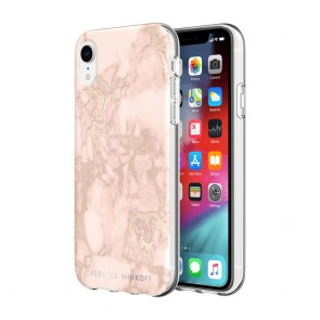 Rebecca Minkoff Be Flexible Case for iPhone XR - Blush Marble