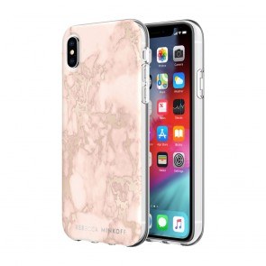 Rebecca Minkoff Be Flexible Case for iPhone XS Max - Blush Marble