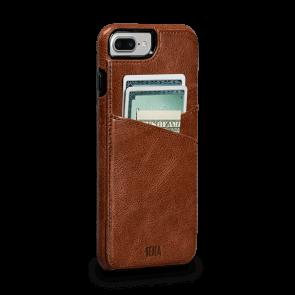 Sena Heritage Lugano Wallet Cognac iPhone 8/7 Plus