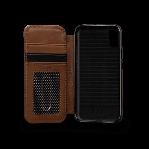 Sena Deen iPhone X/Xs Walletbook Saddle