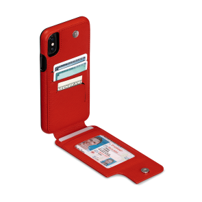 Sena iPhone XR Wallet Skin Red