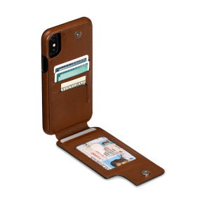 Sena iPhone Xs Max Wallet Skin Saddle