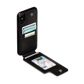 Sena iPhone XR Wallet Skin Black
