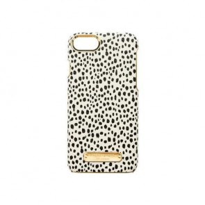 Sugar Paper Wrap Case for iPhone 8 & iPhone 7 - Mini Leopard Dot Black/Brown Leather