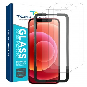 Tech Armor Ballistic Glass Screen Protector for Apple iPhone 12 mini - 3-pack