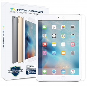 Tech Armor Ballistic Glass Screen Protector for Apple iPad Mini 4th Gen - 1-pack