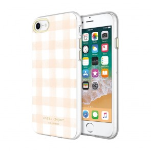 Sugar Paper Printed Case for iPhone 8 & iPhone 7 - Watercolor Plaid Blush/White