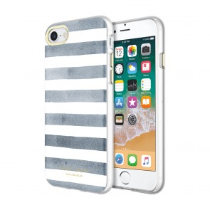 Sugar Paper Printed Case for iPhone 8 & iPhone 7 - Watercolor Stripe Navy/White